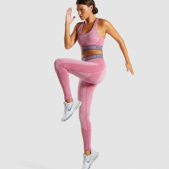 ec3d1a28fe3af Gymshark Other - Flex Set  Dusky pink marl charcoal bra and legging